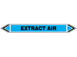 Extract air flow marker label.