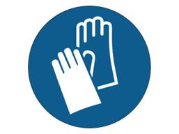 Hand protection symbol label