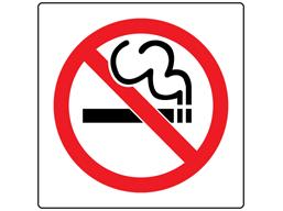 No smoking symbol safety sign (England).