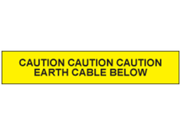Earth cable below tape.