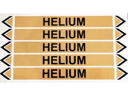 Helium flow marker label.