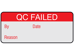 QC failed aluminium foil labels.