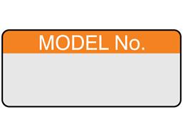 Model number aluminium foil labels.