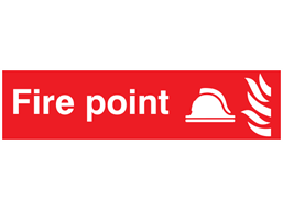 Fire point, mini safety sign.