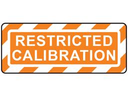 Restricted calibration label