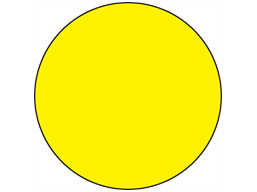 Yellow inventory dot label