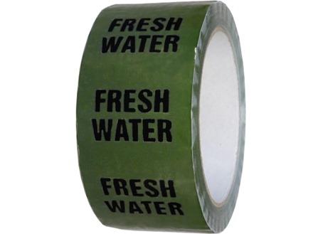 Fresh water pipeline identification tape.
