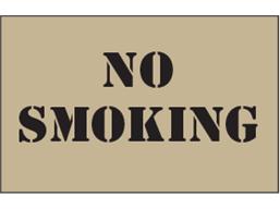 No smoking heavy duty stencil