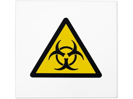 Biohazard symbol safety sign.