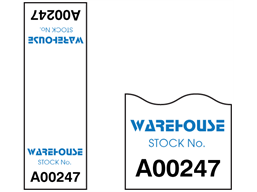 Assetmark cable wrap serial number label (full design), 75mm x 25mm