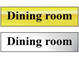 Dining room metal doorplate