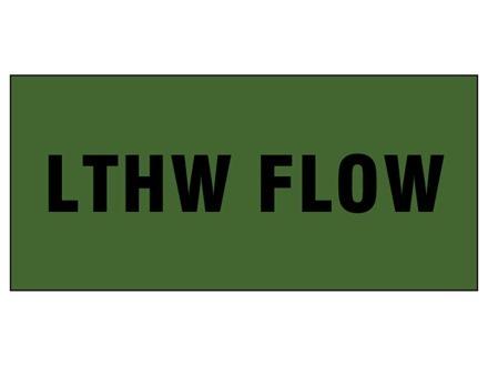 LTHW flow pipeline identification tape.
