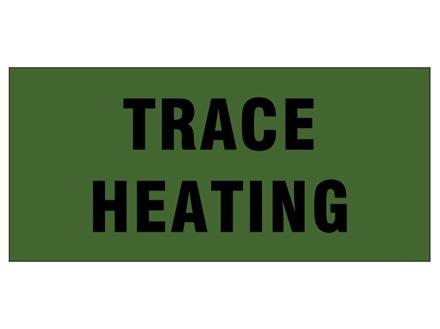Trace heating pipeline identification tape.