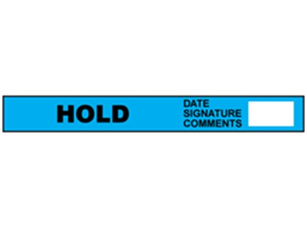 Hold quality assurance tape
