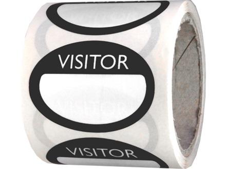 Fabric visitors badges, black