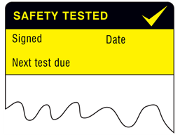 Safety tested cable wrap label