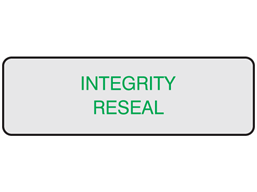 Integrity seal label