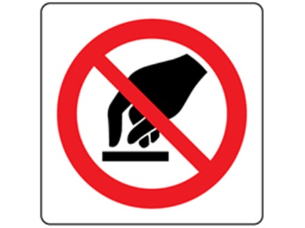 Do not touch symbol label.