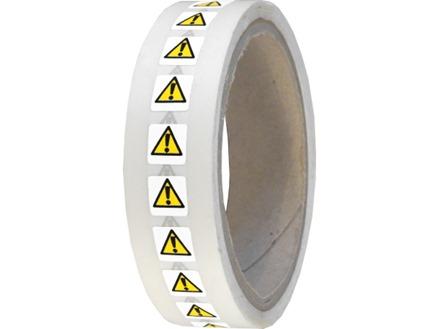 Electrical warning hazard symbol labels.