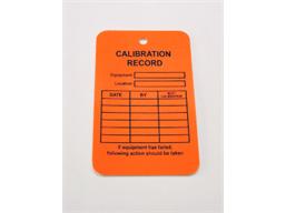 Calibration record tag.