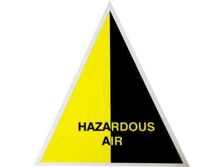 Hazardous Air (with text) Label.
