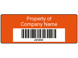 Scanmark+ barcode label (text on colour), 19mm x 50mm