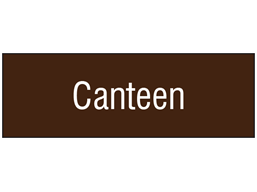 Canteen, engraved sign.