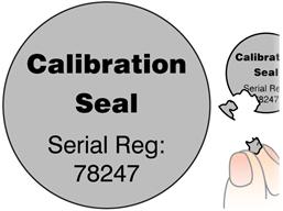 Coloured destructible labels, 38mm diameter