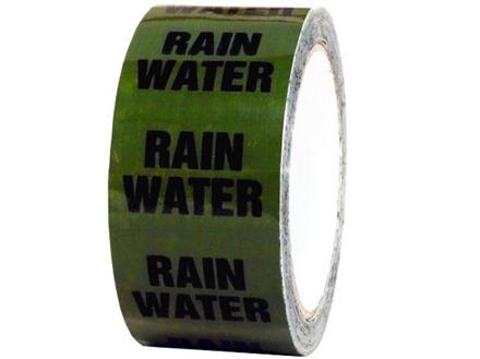 Rain water pipeline identification tape.