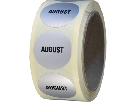 August inventory date label