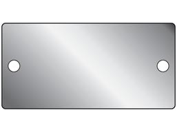 Blank aluminium nameplate, 44mm x 89mm