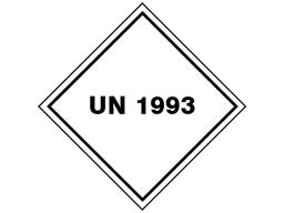 UN 1993 (Flammable liquids containing petroleum distillates ie xylene) label.