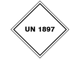 UN 1897 (Tetrachloroethylene) label.