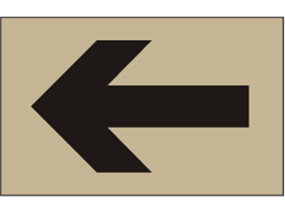Directional arrow heavy duty stencil