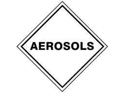 Aerosols, hazard diamond label