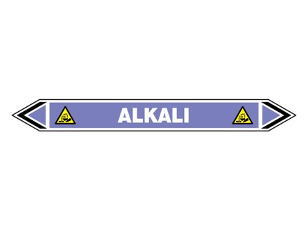 Alkali flow marker label.