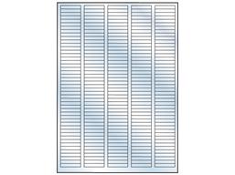 Transparent laminate labels, 6mm x 35mm