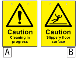 Caution Cleaning In Progress Slippery Floor Surface Sign