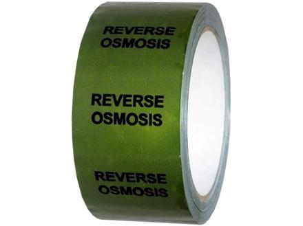 Reverse osmosis pipeline identification tape.
