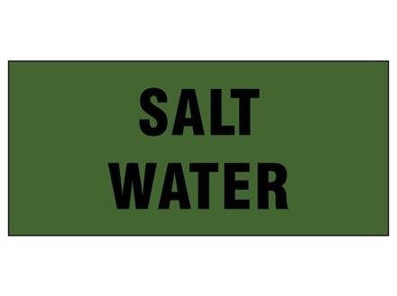 Salt water pipeline identification tape.
