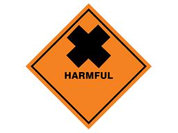 Harmful hazard warning diamond sign