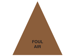 Foul Air (with text) Label.