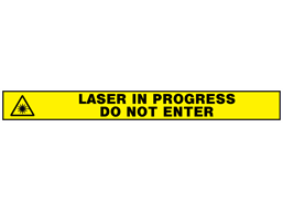 Caution do not enter laser in progress barrier tape