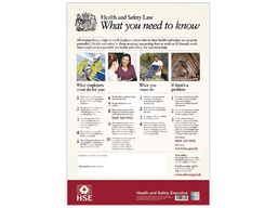 Health and safety law notice