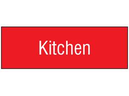 Kitchen, engraved sign.