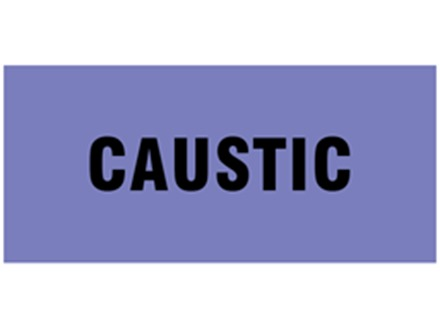 Caustic pipeline identification tape.
