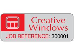 Assetmark tamper evident serial number label (logo / full design), 19mm x 50mm