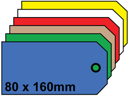 Plain tags, size 8.