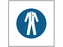 Wear protective clothing symbol safety sign.