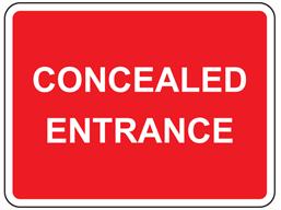 Concealed entrance sign